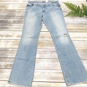 NWOT GAP Distressed Boot Cut Jeans